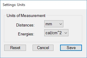 Units of Measurement Popup